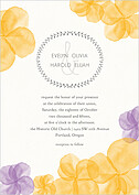 Floral Watercolor Invitation Wedding Invites Flat Cards - Front