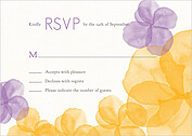 Floral Watercolor RSVP RSVP Flat Cards - Front