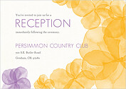 Floral Watercolor Reception Reception Flat Cards - Front