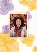 Floral Watercolor Shower Shower Invites Flat Cards - Back