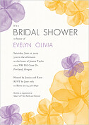 Floral Watercolor Shower Shower Invites Flat Cards - Front