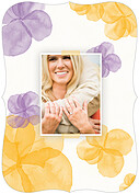 Floral Watercolor Shower Ornate Shower Invites Flat Cards - Back