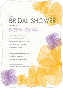 Floral Watercolor Shower Ornate Shower Invites Flat Cards - Front