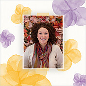 Floral Watercolor Shower Square Shower Invites Flat Cards - Back