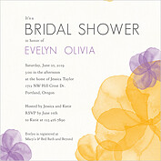Floral Watercolor Shower Square Shower Invites Flat Cards - Front