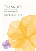 Floral Watercolor Thank You Thank You Flat Cards - Front