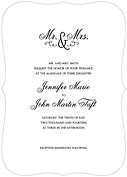 Gatsby Invitation Black Ornate Wedding Invites Flat Cards - Front