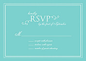 Gatsby RSVP Teal - Front