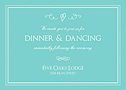 Gatsby Reception Teal Reception Flat Cards - Front
