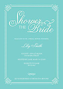 Gatsby Shower Teal Shower Invites Flat Cards - Front
