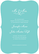 Gatsby Invitation Teal Ornate Wedding Invites Flat Cards - Front