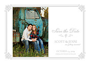 Gatsby Date White Save the Date Flat Cards - Front