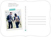 Postcard Date Aqua Ornate - Back