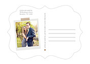 Postcard Date Neutral Ornate Save the Date Flat Cards - Back