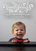 Hip Holiday Black Overlay Holiday Flat Cards - Front