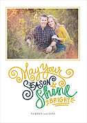 Shine Bright White Folded Card Holiday Folded Cards - Front