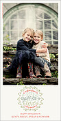 Wondrous Wreath Photo Card - Vertical