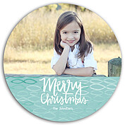 Merry Waves Aqua Circle - Front