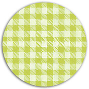 Plaid Pictage Green Circle - Back