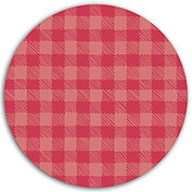 Plaid Pictage Red Circle - Back