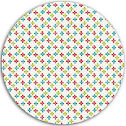 Colorful Clovers Circle - Back