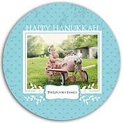 Hanukkah Frame Circle - Front