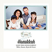 Hanukkah Wishes Eggshell Square - Front