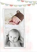 Lovely Welcome Coral Birth Announcements Flat Cards - Back