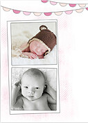 Lovely Welcome Pink Birth Announcements Flat Cards - Back