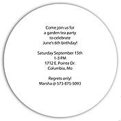 Invited Blue Circle - Back