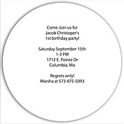 Invited Red Circle Birthday Party Invitations Flat Cards - Back