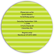 Celebrate Confetti Circle Birthday Party Invitations Flat Cards - Back