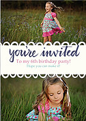 Invited Blue Birthday Party Invitations Flat Cards - Front