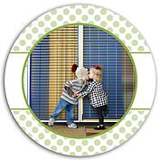 Polka Present Green Circle - Front
