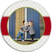Polka Present Red Circle - Front