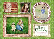 Frames of Christmas Long Christmas Cards - Front