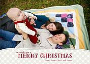 Subtle Polka Beige Christmas Cards - Front