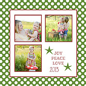 Polka Joy Green Square - Back