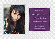 Senior Sophisticate Graduation Flat Cards - Back
