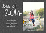 Class of Charcoal Graduation Flat Cards - Front