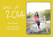 Class of Gold Graduation Flat Cards - Front