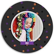 Confetti Trio Gray 1 Circle - Front