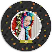 Confetti Trio Gray 2 Circle - Front