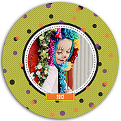 Confetti Trio Green Circle - Front