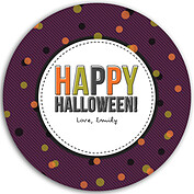 Confetti Trio Purple Circle - Back
