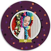 Confetti Trio Purple Circle - Front