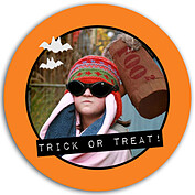 Halloween Wish Orange Circle - Back