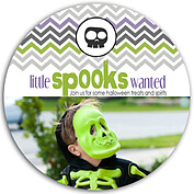 Spooks Wanted Circle - Front