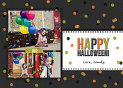 Confetti Trio Gray 2 Halloween Flat Cards - Front