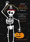 Bones Halloween Flat Cards - Front